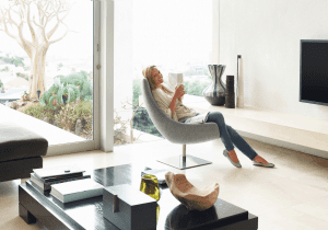 Woman in ductless home
